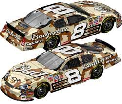 Dale Earnhardt Jr Military Tribute Camo Car
