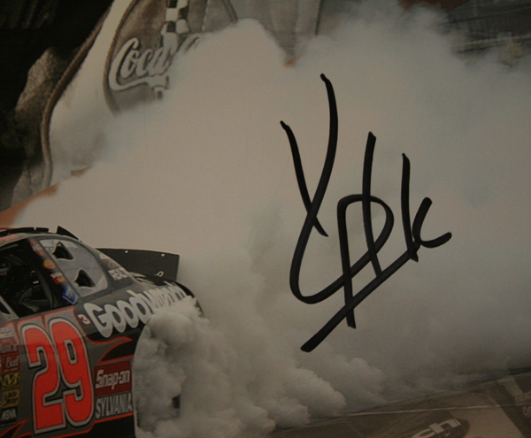 Kevin Harvick Autograph as on poster