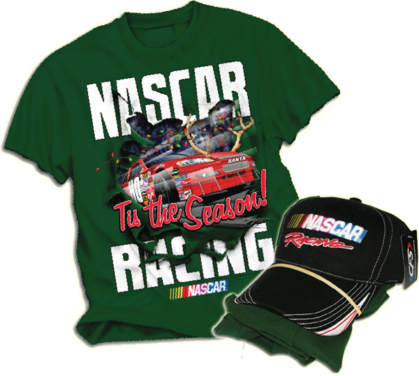 NASCAR Christmas Tee and Cap Combo