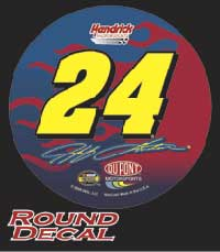 Jeff Gordon Wincraft Racing NASCAR 3 inch Decal
