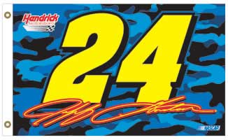 Jeff Gordon 2-Sided Camo Flag