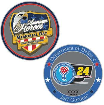Jeff Gordon Military Salute Coin