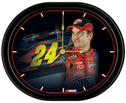 Jeff Gordon Jebco Oval Series Clock