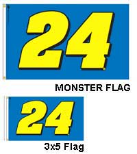 Jeff Gordon 5 x 8 foot Monster Flag