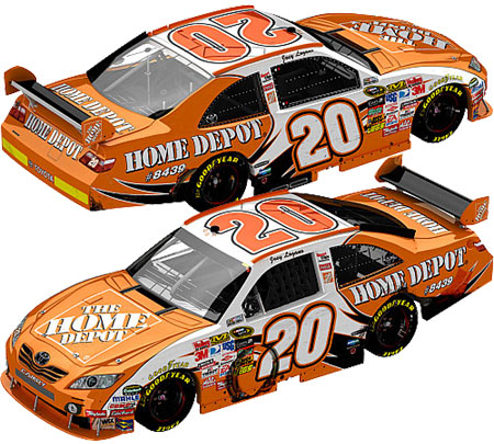 Joey Logano Loudon Home Depot Raced Diecast