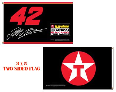 Juan Montoya 2 Sided Havoline Flag