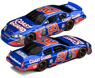 Kevin Harvick 2006 #21 Coast Guard NASCAR Diecast