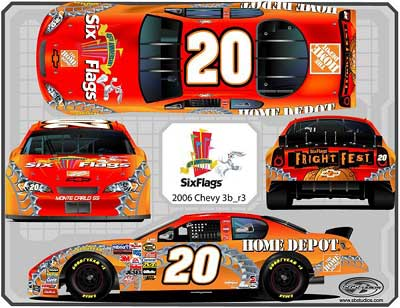Tony Stewart 2006 Six Flags NASCAR Diecast