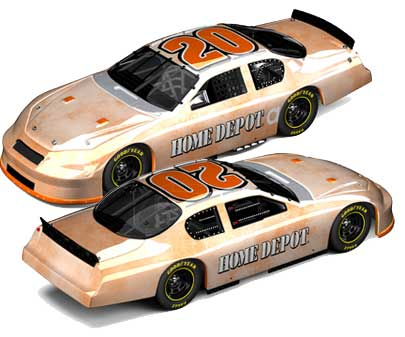 Tony Stewart 2006 Home Depot Track Tested Test Car